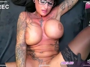 Voyeur fucks milf glasses tattoo woman get orgasm pov