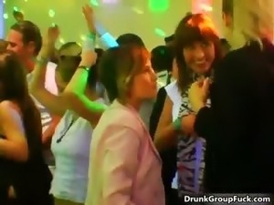 Sexy drunk girls enjoying the hot party part4