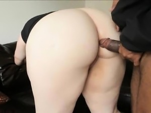 Pretty Blue Eyed BBW Enjoying Big Black Cock