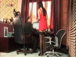 Sexy secretary gets cunt hammered by her boss free