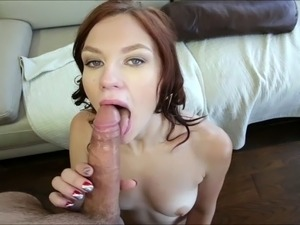 Brunette Chloe Love gets creampied inside her pussy by