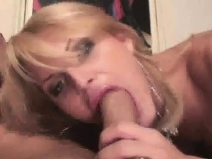 Tranny and her man sucking each others hard cocks