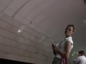 Upskirt sitting subway video free