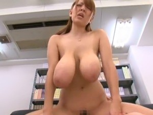 Hitomi Tanaka fucking at the library in different positions