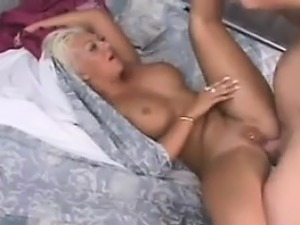 Horny Blonde Brit Double Penetrated