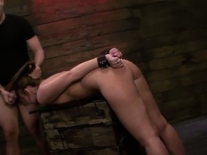 FetishNetwork Kayleigh Nichole rough bdsm slave training