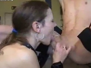 Amateur blowjob and finger in ass