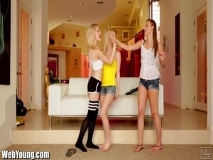 Webyoung Lesbians Initiate Teen Guitar Hero with Pussy Eating free