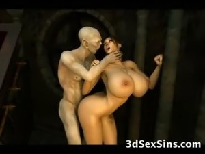 Scary Creatures Fuck 3D Girls!