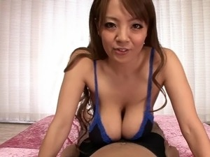 Asian big tits famous porn star titty fucking a guy