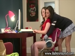 Hot teen seduced by lesbo free