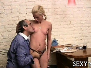 Teacher forcing himself on beauteous chick