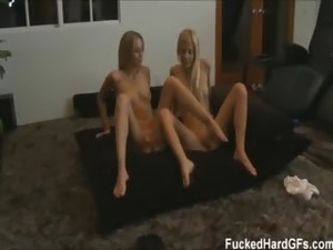 Carmen and her girlfriend Shaye fuck their boyfriends in this home made sex...