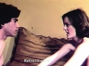 extremely hot retro fucking on bedstead