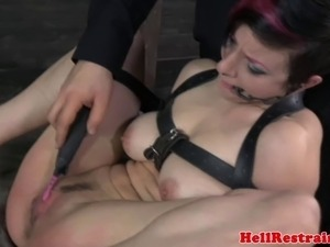 BDSM subs pussy electric teased after spanking with toy