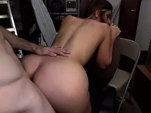 Real bitch fucked hard in backroom
