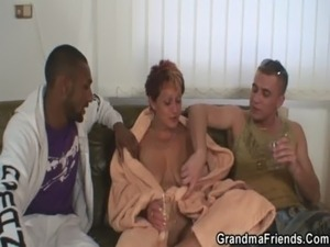 She agrees for 3some with two strangers free