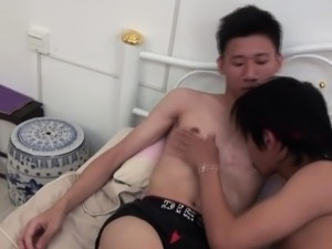 Rimming twinks ass fucked