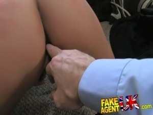 FakeAgentUK Petite girl, big tits, great fuck, job done free