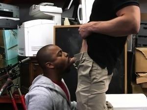 Amateur black guy banged