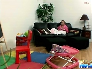 Hot babysitter Riley Shy caught stealing silverware for her