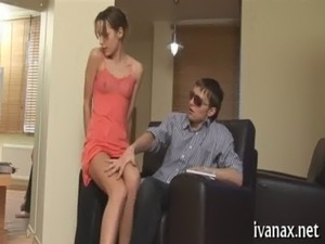 Twiggy chick sucks massive ramrod free