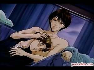 Two hentai guy trapped in their sex affair