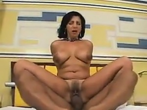 Sexy Latin MILF Riding Cock