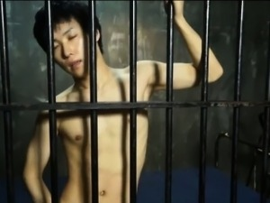 Solo asian prisoner cums