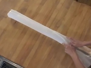 Very hot milf satisfies her sexual desires with enormously big glass dildo....
