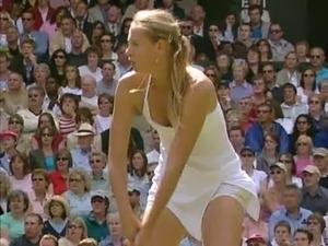 Nice Tennis Downblouse Oops - Maria Sharapova - Wimbledon free