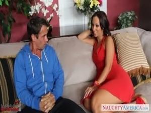 Hot brunette Jada Stevens take cock free