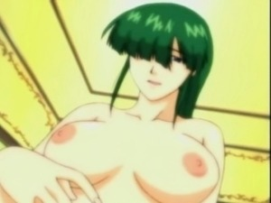 Chained hentai in her nipples gets fingred wetpussy