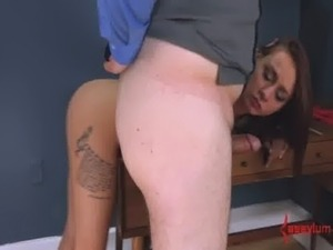 Teen anal virgin gets brutally assfucked and tastes her ass juice (4min) free
