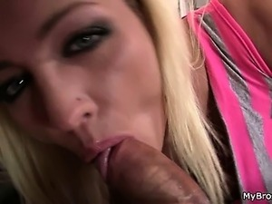 Her BF gets drunk and she fucks his bro