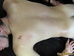 Straight amateur twinks anal fingering