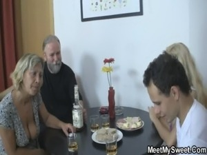 Her pussy gets licked and fucked by her BF's parents free