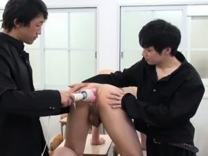 Ass toyed asian sucks