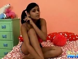 Hot brunette latina babysitter Gina is caught sleeping on