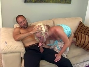 Whitney Grace is his wife's sweet friend. This cute blonde