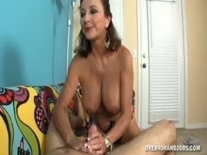 Topless Mature Lady Jerks A Dick free
