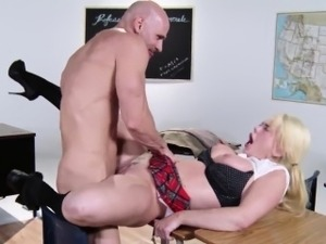Blonde exgf fucking an old bf at school reunion