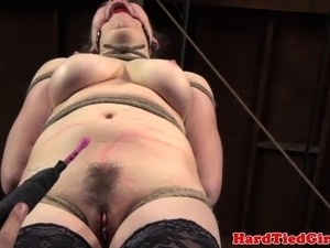 Ballgagged lezdom submissive flogged in this hd video