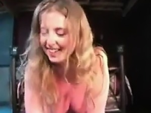 Cute Girl Riding A Sybian