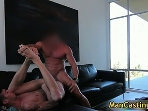 Sexy hunk Chris takes fat rigid cock part5