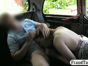 Big boobs amateur slut throated n fucked in the backseat