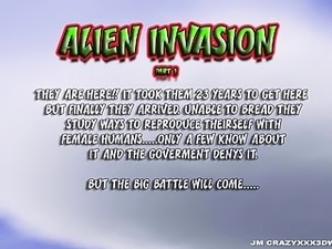 3D Animation. Alien Invasion