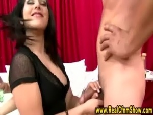 Cfnm femdom sluts watch guy jerk off and cumshot free