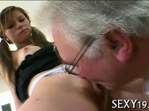 Teacher forcing himself on babe