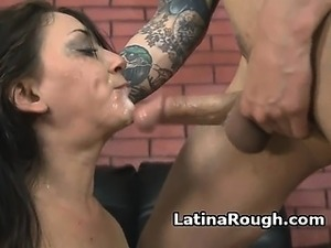 Latina Amateur Gagging And Puking During Rough Face Fuck